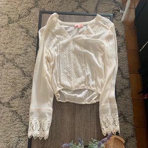 Lulu's Bali Daydream white blouse size small